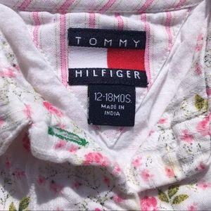 Vintage TOMMY HILFIGER Pink Flowered Dress 12-18M